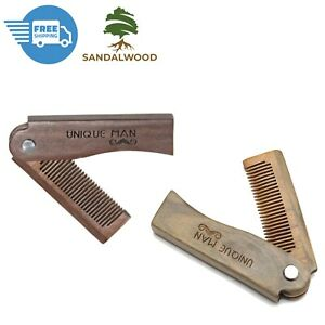 Facial hair style For Men Beard Mustache Care Natural Red Sandalwood pocket Comb