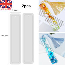 2pcs Rectangle Silicone Bookmark Mold DIY Making Epoxy Resin Jewelry Craft Mould