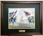 With A Rebel Yell by Mort Kunstler Civil War Art Print /Frame and Double Matting