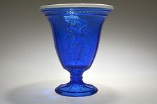 2014 6-3/4'' Fenton Gift Shop Exclusive Cobalt Dancing Ladies Vase NEW CONDITION