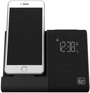 Kitsound XDOCK 4 Clock FM Radio Alarm Clock Speaker Docking Station Iphone