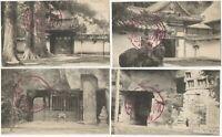 Zuiganji Ojima Island Matsushima Japan - Four 1920s Japanese Travel Postcards