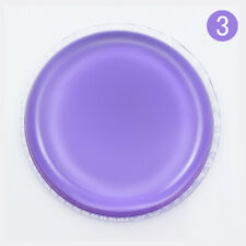 Purple Jelly Silicone Powder Puff Sponge Face Foundation Makeup Tool With Box #5