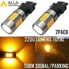 Alla Lighting 3157 3000K 54-LED Turn Signal Light Bulb Lamp Blinker,Amber Yellow