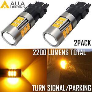 Alla Lighting 3157 3000K 54-LED Turn Signal Light Bulb Lamp Blinker,Amber Yellow