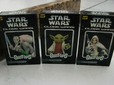 Star Wars Bust-Ups Clone Wars Lot of 3 yoda, General Grievous, Padme Amidala