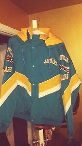 Jacksonville Jaguars Throwback Windbreaker Parka Starter Jacket XL New! NWOT