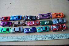 Lot of 15 vintage random loose diecast & plastic cars & trucks