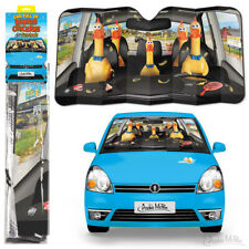 """CAR FULL OF RUBBER CHICKENS AUTO SUN SHADE  Size 50"""" x 27-1/2"""" - protects, cools"""