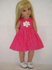 PUPPENKLEIDUNG für Götz Stehpuppe Hannah 50cm Kleidung Kleid Punkte (OHNE PUPPE)