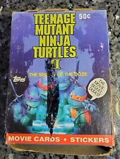 1992 Topps TEENAGE MUTANT NINJA TURTLES II TMNT Movie Trading Cards Box 36 packs