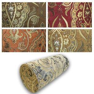 Bolster Cover*Damask Chenille Neck Roll Tube Yoga Massage Pillow Case Custom*Wk5