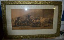 ROSA BONHEUR (THE HORSE FAIR) 1822-1899.Vintage Art Print 38.5 x 24.5