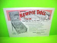 Gottlieb KEWPIE DOLL Original 1960 Flipper Game Pinball Machine Promo Flyer Rare