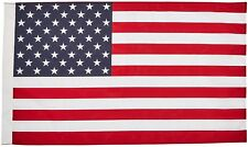American Flag - 2.5 x 4 Feet Poly Cotton Flag with Pole Sleeve - Made in the -