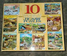 Ceaco Box of 10 Made In America Puzzles, 500, 300, 100 Pieces, 3804-1