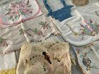 Lot+21+Vintage+Embroidered+Linens+Pillowcases+BUTTERFLY+Red+Birds+Flower+Basket+