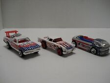 HOT WHEELS LOT OF 3 DIFFERENT VEHICLES FORD THUNDERBIRD, EL CAMINO AND DEORA