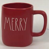 Rae Dunn MERRY Red Christmas Holiday Coffee Tea Mug New