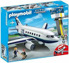 NEW Playmobil 5261 Cargo and Passenger Aircraft - w/ATC Tower/Figures & Airplane