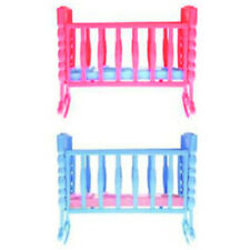 Mini Dolls House Kids Toy Rocking Cradle Bed for Doll Accessories ToYT