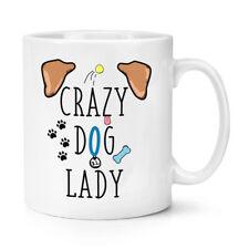 Crazy dog lady marron oreilles 10oz tasse-chiens chiot animal pet os love