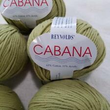 6 Balls Skeins REYNOLDS CABANA Cotton Blend Plied Yarn Sage Green Color 906