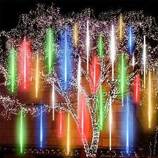 Solar Meteor Shower Lights Waterproof Light Tube String Garden Outdoor Decor US