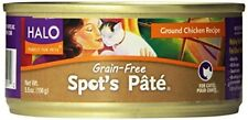 Halo Spot`s Pate for Cats Grain-Free Ground Chicken, 5.5oz/12 Cans (Pack of 12)