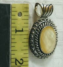 Oval Silvertone Ladies Please with Pearl colored Center by Accent