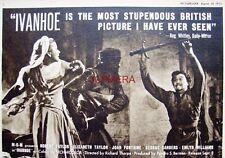 IVANHOE Original 1952 Film Advert - Elizabeth Taylor & Robert Taylor Movie Ad