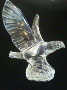 WATERFORD CRYSTAL FIGURINE SCULPTURE AMERICAN BALD EAGLE BIRD MINT!
