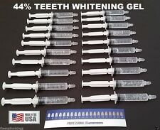 20 Syringes Teeth Whitening Carbamide Peroxide 44% Whitening Gel Mint Flavor