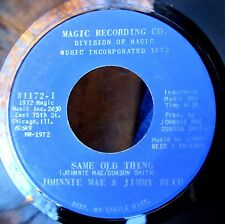 JIMMY REED blues 45: his last session, with JOHNNIE MAE DUNSON Same Old Thing