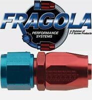 Fragola 220106 6  AN Aluminum Straight Socket Style Hose Fitting Water IMCA USRA