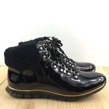 Cole Haan Zerogrand Waterproof Hiker Boots Size 6 B Black Womens Shoes MSRP $270