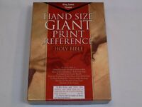 KJV Hand Size Giant Print Reference Holy Bible Black Bonded Leather King James