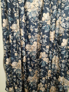 Waverly Forever Yours Indigo Curtain Panels 52x84 NIP-Pair-Polyester