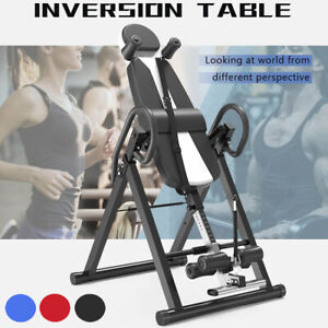 Foldable Inversion Table Exercise Fitness Back Therapy Gravity Bench Home Gym UK