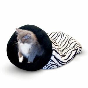 "K&H Pet Products Self Warming Kitty Sack Leopard 17"" x 17.5"" x 4.5"" KH3494"