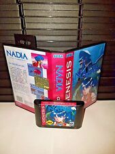 Nadia - The Secret of Blue water Game for Sega Genesis! Cart & Box!
