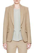 Theory Essential H Stable Stretch Cotton Twill Jacket Blazer Khaki 00 Nwt $455