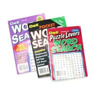 Set of 3 Dell Official Word Search Puzzle Books word seek word hunt 2015 Stock
