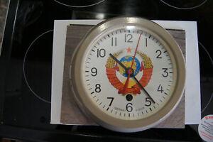 SOVIET RUSSIAN VOSTOK BOAT/SHIP SUBMARINE NAVY CABIN ANTIMAGNETIC CLOCK serviced