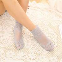 Cotton Non-slip Socks Short Ankle Socks Summer Thin Mesh Sock Women Lace Flower