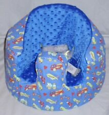 New Bumbo Floor Seat Cover • Trucks Trains Cars & Planes • Safety Strap Ready