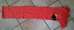 NWT New Unisex SMARTWOOL Longview Scarf 100% Merino Wool Poppy Coral Orange