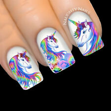 RAINBOW UNICORN Nail Water Transfer Decal Sticker Art Slider Tattoo