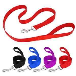 4ft Pet Puppy Dog Training Lead Walking Leads Training Nylon Rope Black Red Blue