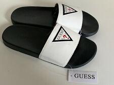 NEW! GUESS ERUBA BLACK WHITE MEN'S SLIDES SLIPPERS US 8 / EU 41 SALE
